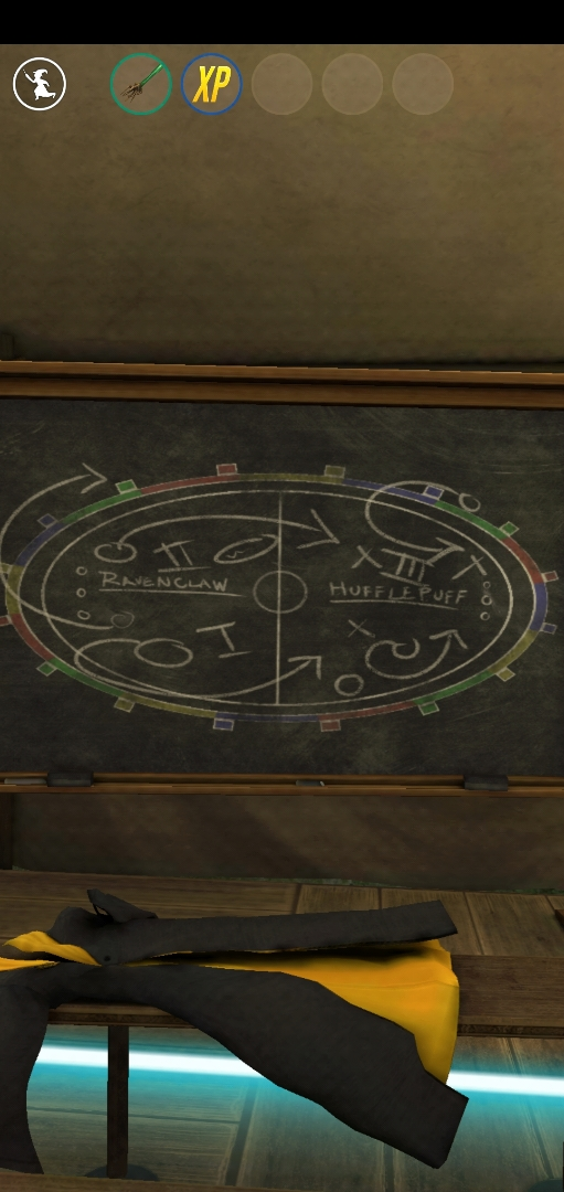 """The Quidditch Locker Room Portkey in """"Wizards Unite"""" features a blackboard full of game-winning maneuvers."""