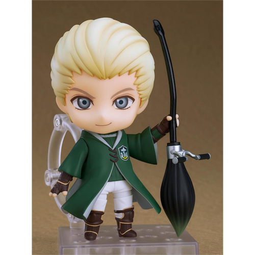 The Nendoroid Draco Malfoy: Quidditch Ver. from Good Smile Company is pictured.
