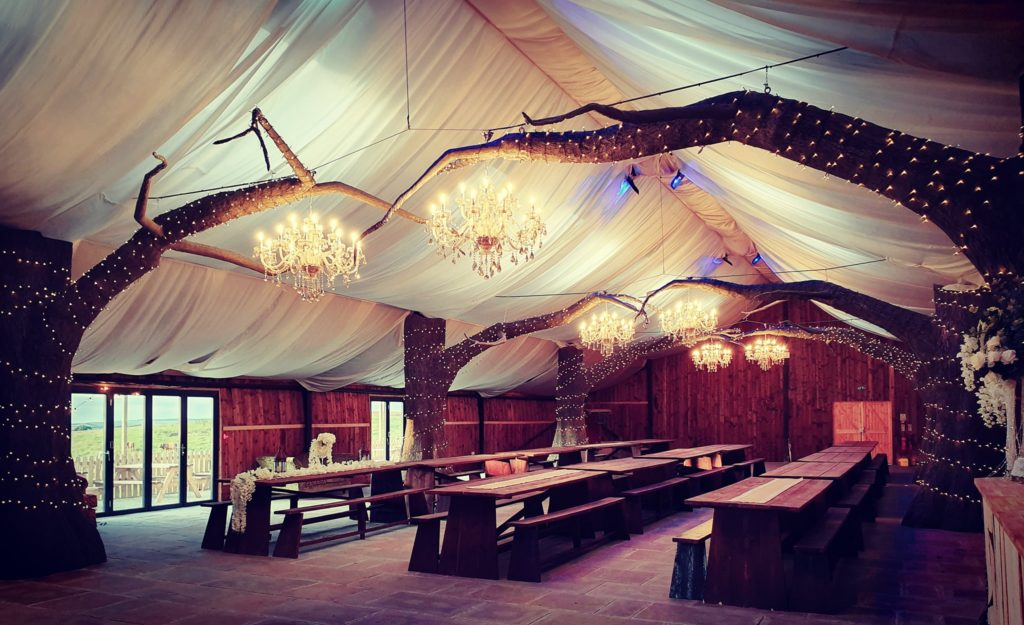 North Shire's fairy-tale barn has long, wooden tables just like the Great Hall at Hogwarts.