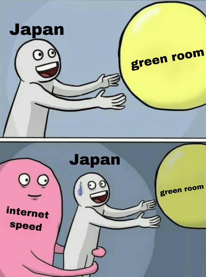 Japan had problems with Internet connection.