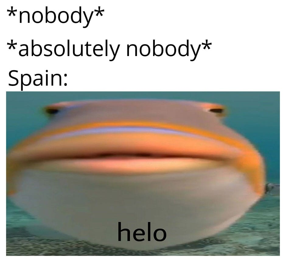 Hello is a new quote from Spain's song.