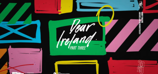 "An Abbey Theatre production presents ""Dear Ireland"" part three opening title card art created by Maser."