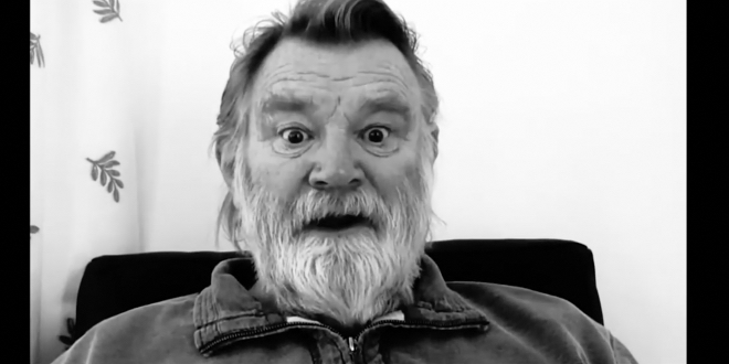 Brendan Gleeson's character reacts eccentrically to Miss Ireland's reaction.