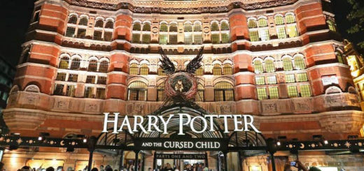 "An image of the ""Harry Potter and the Cursed Child"" London venue, the Palace Theatre, is featured."