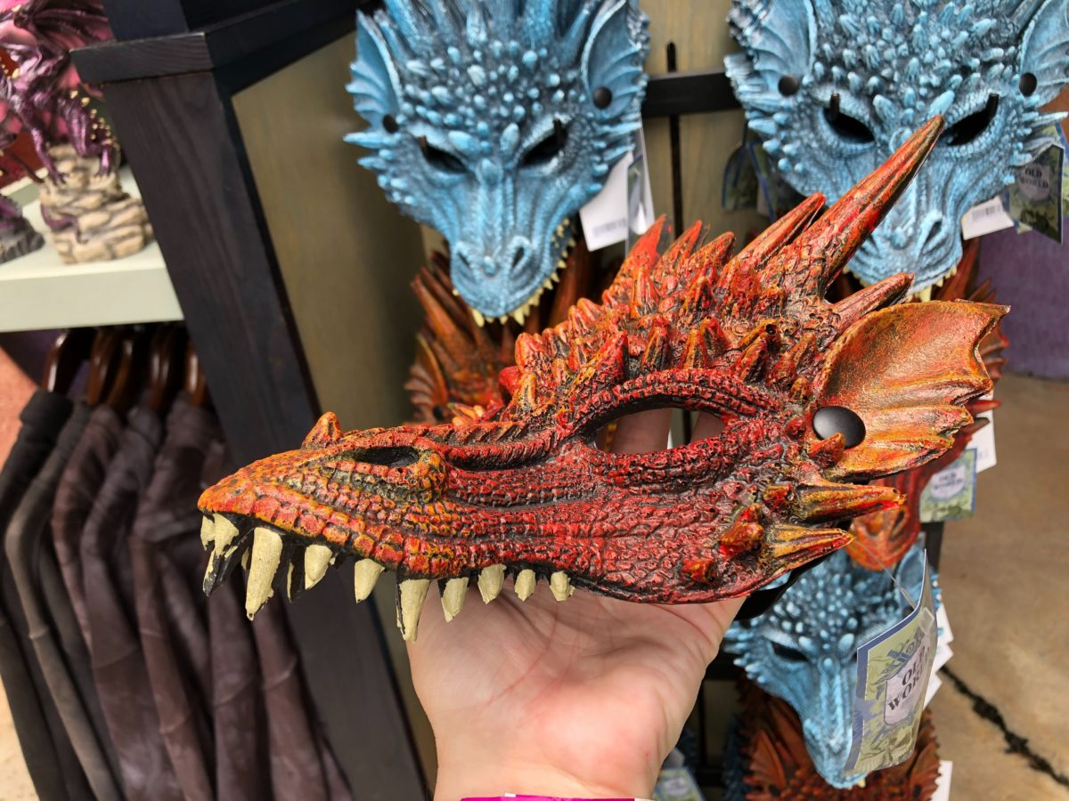 You can also find masks of the two dragons, Fire and Ice.