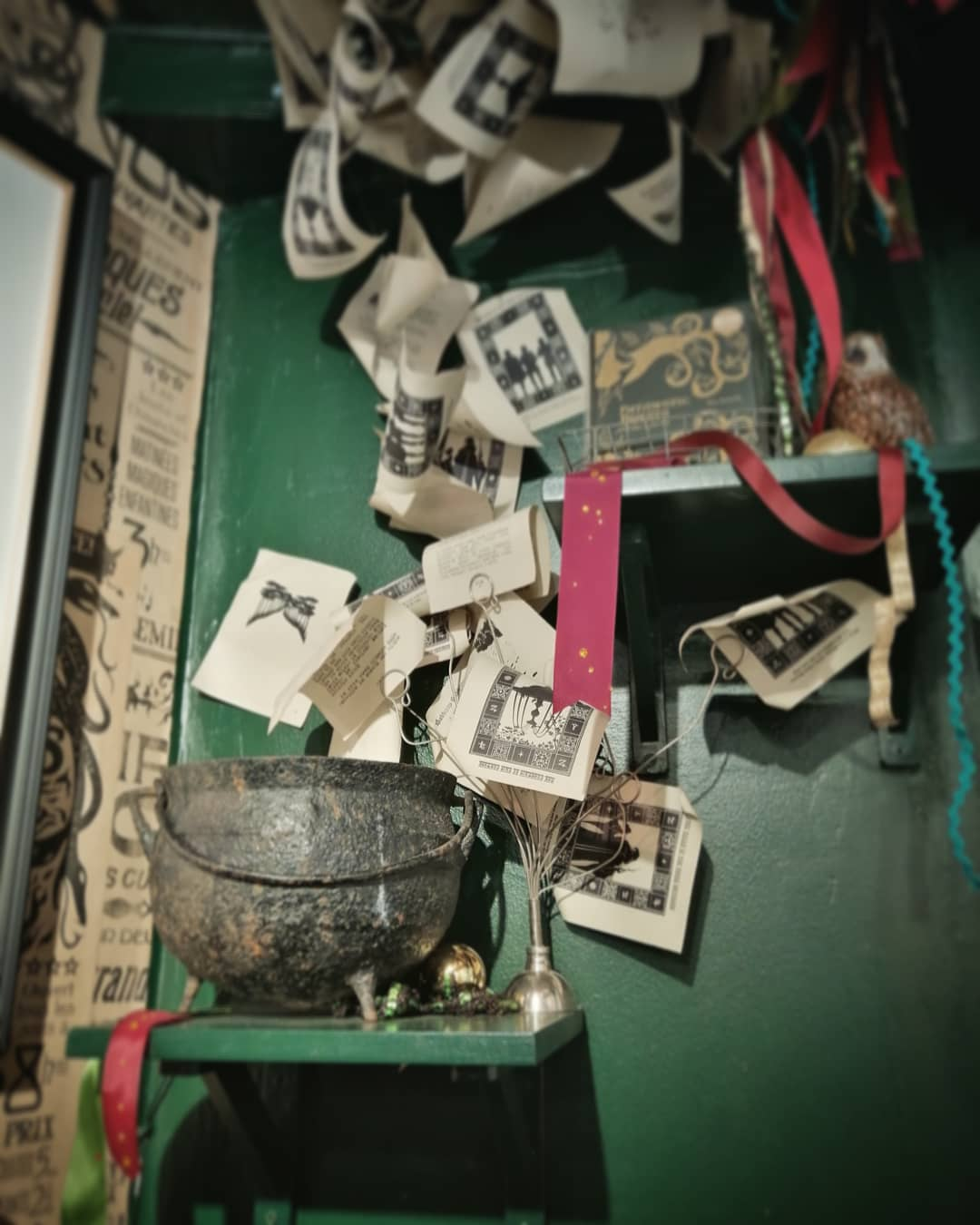 Check out this fun cauldron display in House of MinaLima.