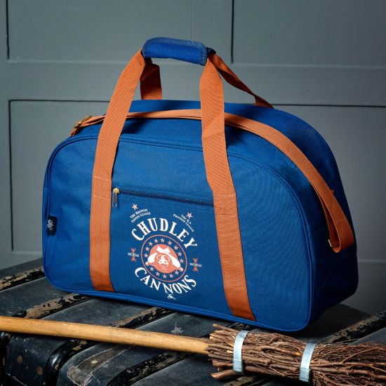 The Chudley Cannons Quidditch Kit Bag from Merchoid is pictured.