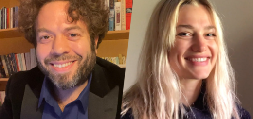 """""""Fantastic Beasts"""" stars Dan Fogler (left) and Alison Sudol (right), narrate """"The Midnight Duel"""" for Wizarding World Digital's Harry Potter at Home."""