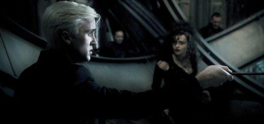 Bellatrix trying to pressure Draco into killing Dumbledore