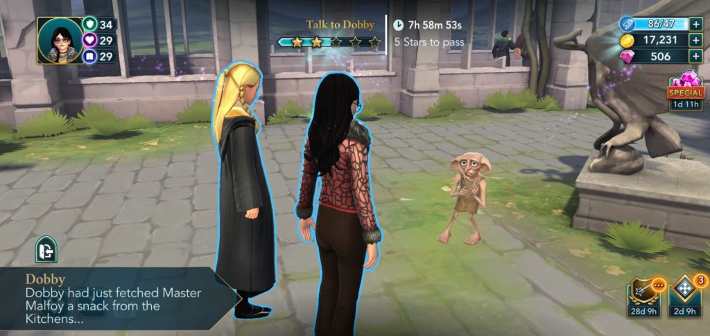 Dobby says he was getting Lucius Malfoy a snack, and we suddenly have to think of Lucius Malfoy snacking.