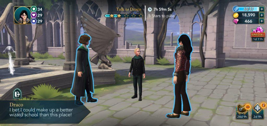 Draco Malfoy stops short of telling us he's transferring to Pigfarts.