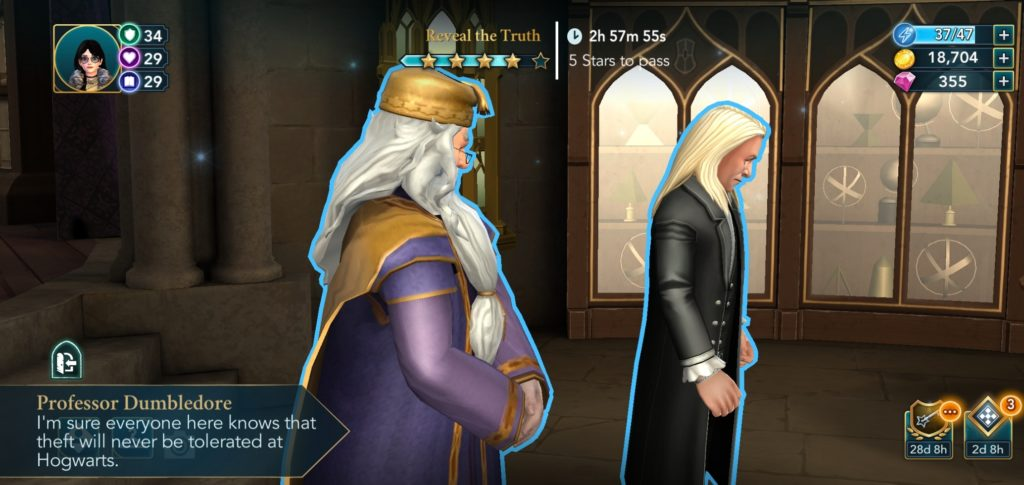 Dumbledore adorably doesn't think people steal things at Hogwarts.