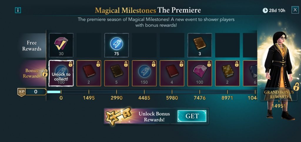 """""""Hogwarts Mystery"""" has added a new Magical Milestones season pass feature."""