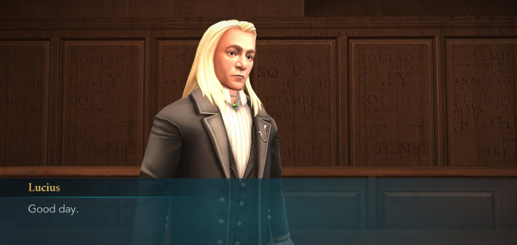 Lucius Malfoy bids you good day and doesn't mean it.