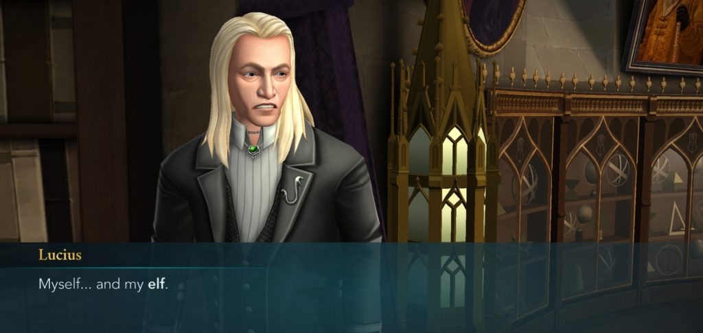 Lucius Malfoy is a poet and didn't know it.