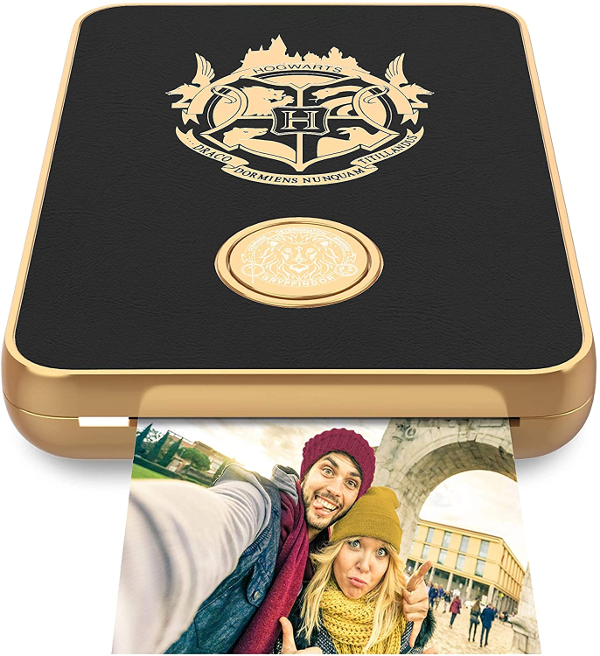 The Harry Potter Magic Photo and Video Printer for iPhone and Android by Lifeprint is pictured in black.