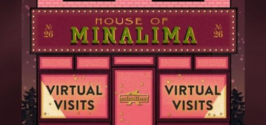 The House of MinaLima front entrance advertises virtual visits.