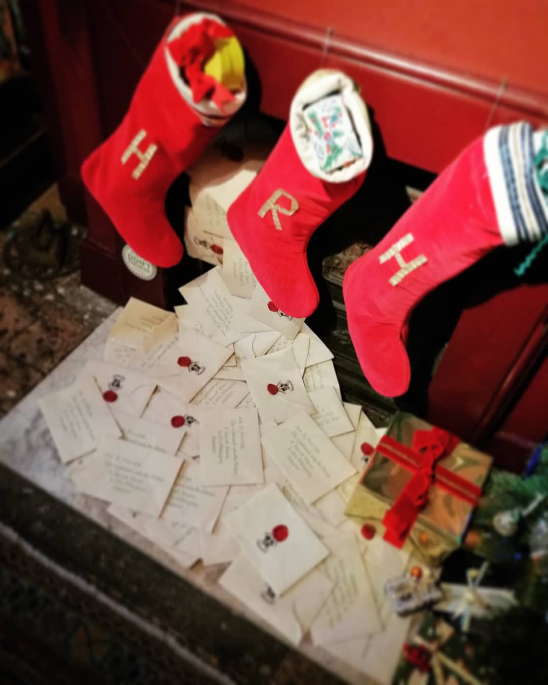 "This display of letters and stockings takes visitors right back to first seeing the ""Harry Potter"" films."