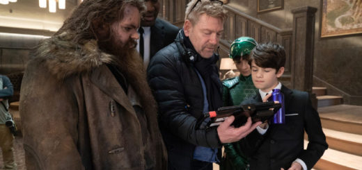 "Kenneth Branagh on the set of ""Artemis Fowl"" is pictured."