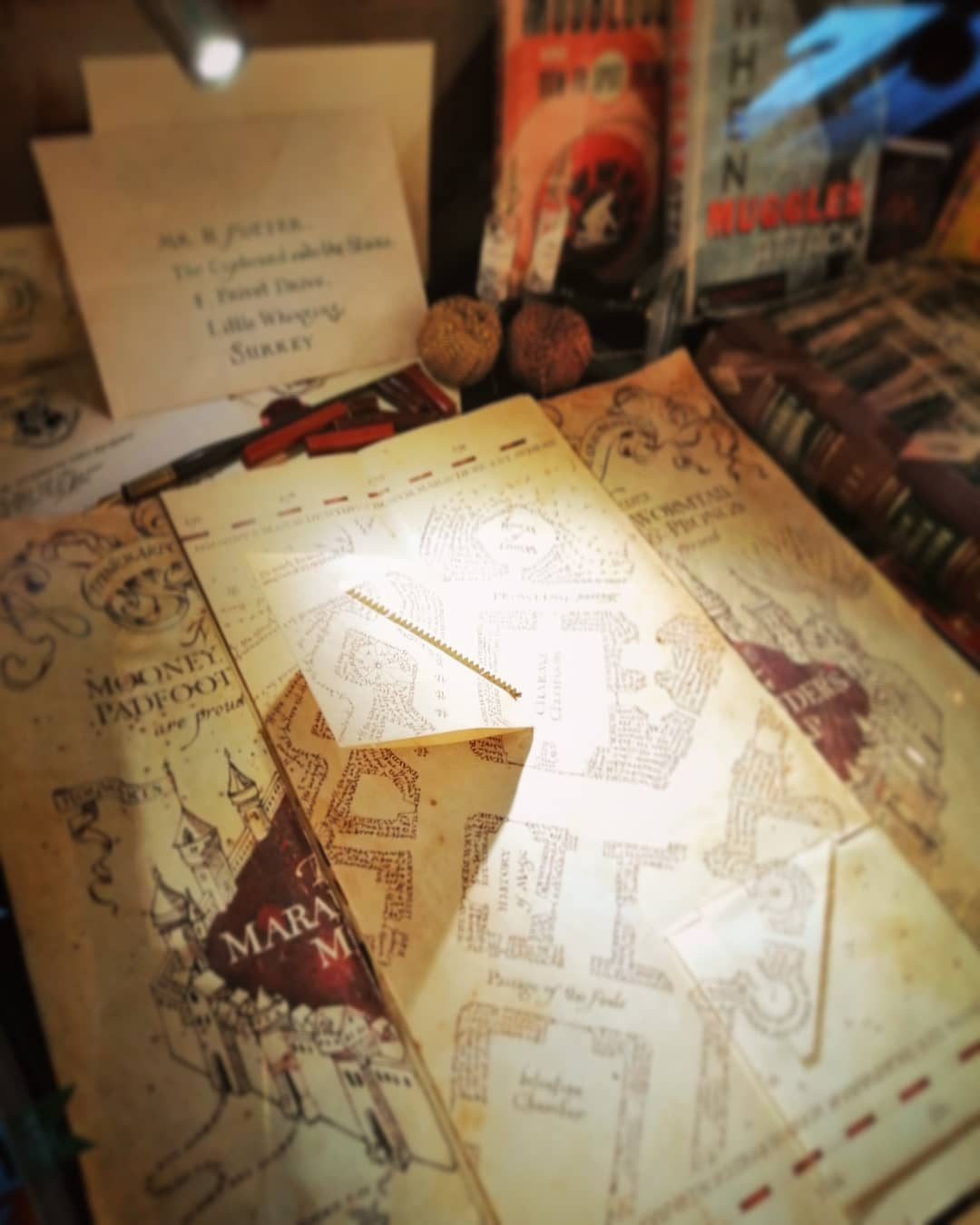 House of MinaLima displays the Marauder's Map, Harry's acceptance letter, and many more detailed designs.