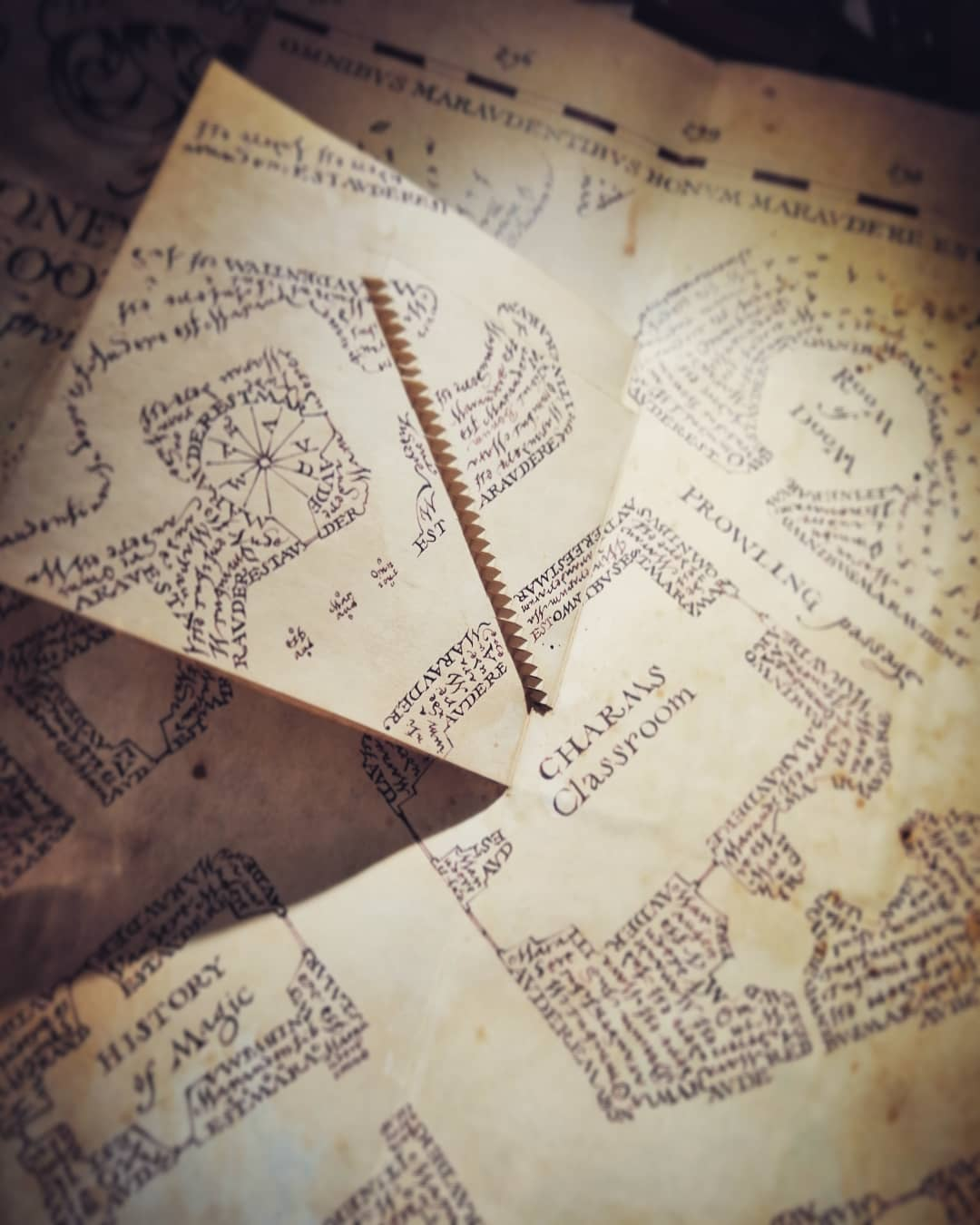 The Marauder's Map has hidden design elements that aren't even visible on-screen.