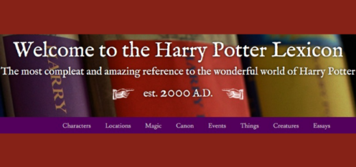 The Harry Potter Lexicon website banner