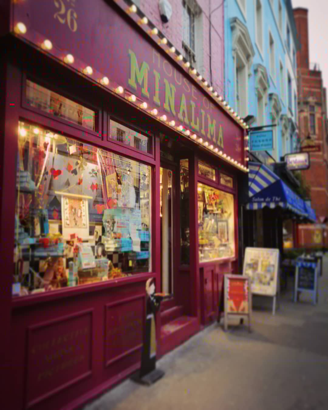 House of MinaLima looks like it could easily fit between the shops of Diagon Alley.