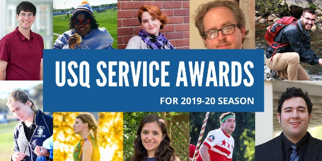 The 2019-2020 USQ Service Awards awardees are pictured.