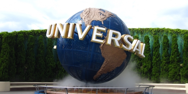 The Universal globe outside of Universal Studios Japan.