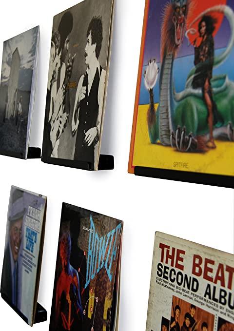 Vinyl record display shelf