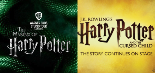 "A featured image using the logos of the Warner Bros. Studio Tour London and ""Harry Potter and the Cursed Child"" is shown."