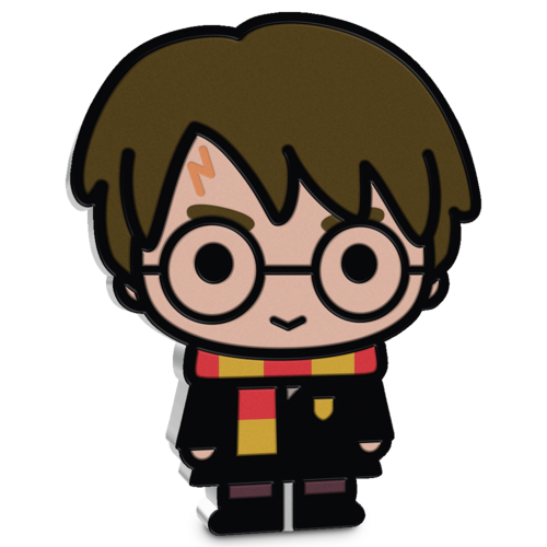 """An image of New Zealand Mint's first """"Harry Potter"""" chibi coin."""