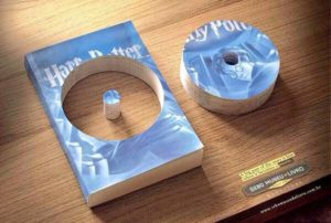 DVD cut out of book