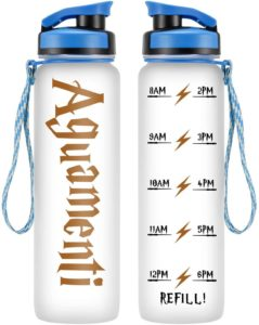 A water bottle with the Aguamenti spell on it