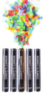 Confetti cannon party poppers