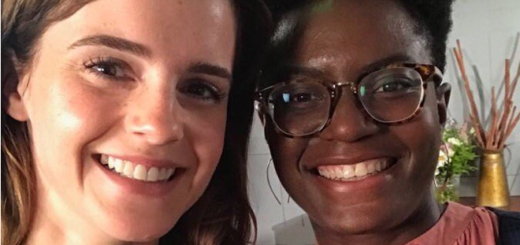 Emma Watson and author Reni Eddo-Lodge are pictured together in a selfie that was posted to Twitter by Emma in October 2018.