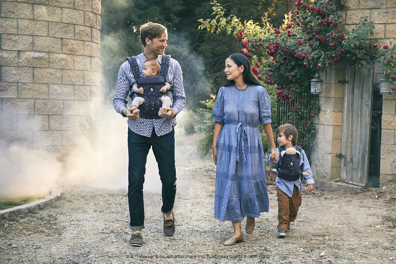 Products from the Lumos Maxima collection from Ergobaby, in collaboration with Warner Bros. Consumer Products, are pictured.