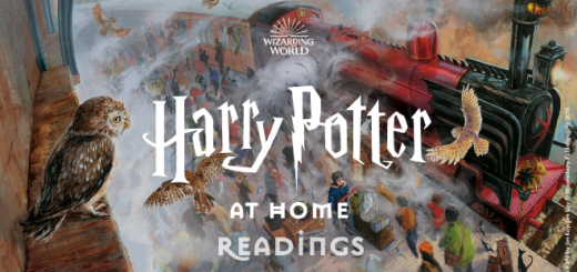 "The ""Harry Potter At Home"" title card is pictured."