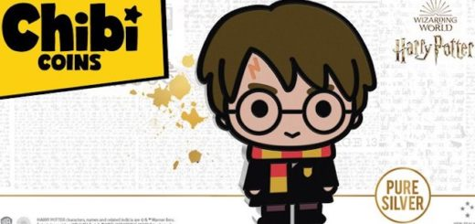 "An image of New Zealand Mint's first ""Harry Potter"" chibi coin."
