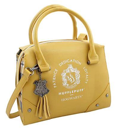 yellow designer-handbag-style Hufflepuff purse