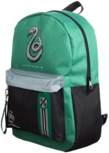 green Slytherin backpack
