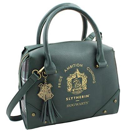 green designer-handbag-style Slytherin purse