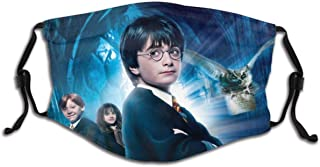face mask showing Harry, Ron, and Hermione from Sorcerer's Stone movie