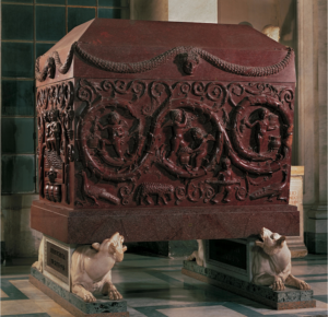An example of the Imperial Porphyry used for the tombs of Roman emperors