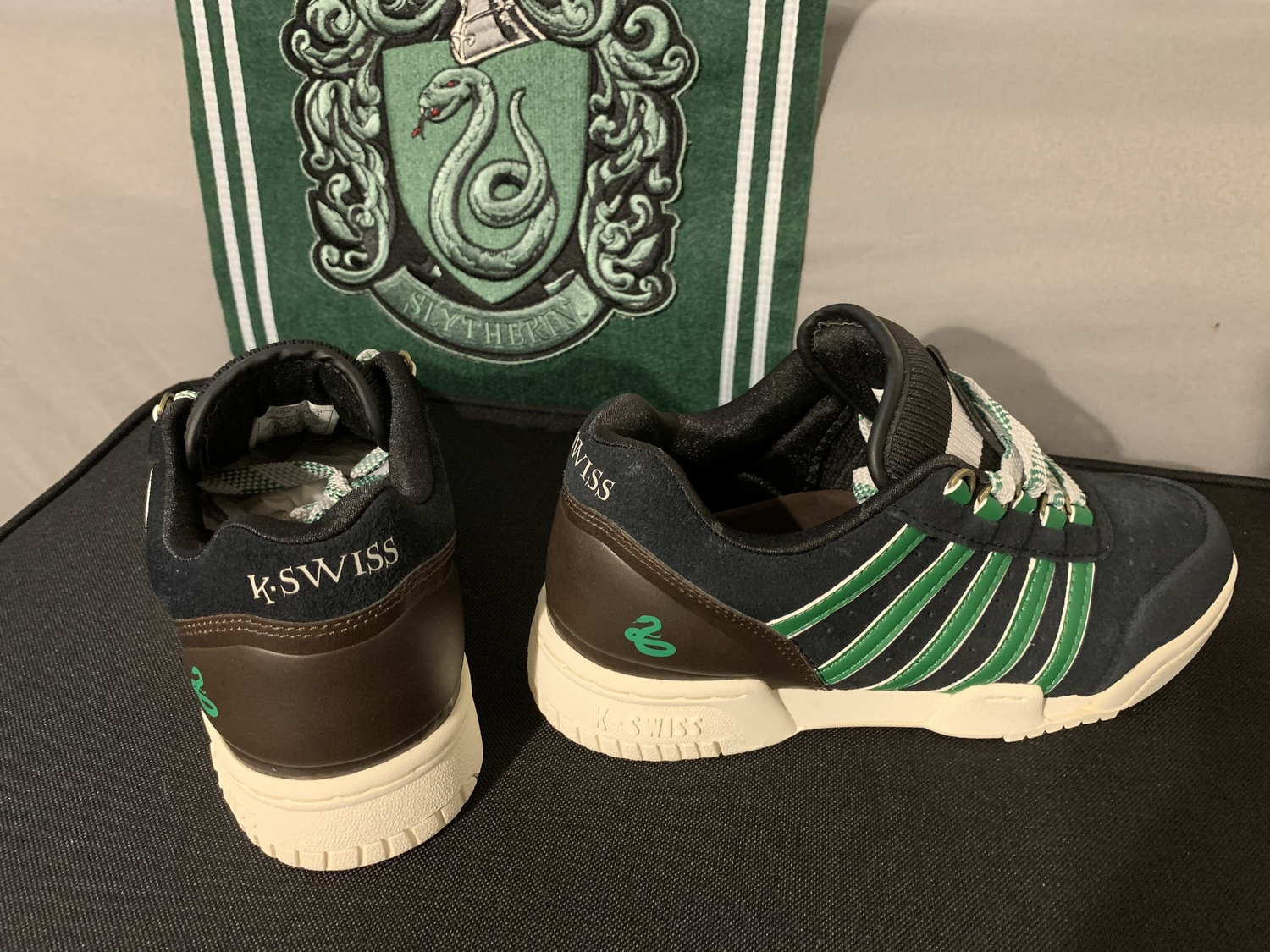 K-Swiss sneakers, back and side views