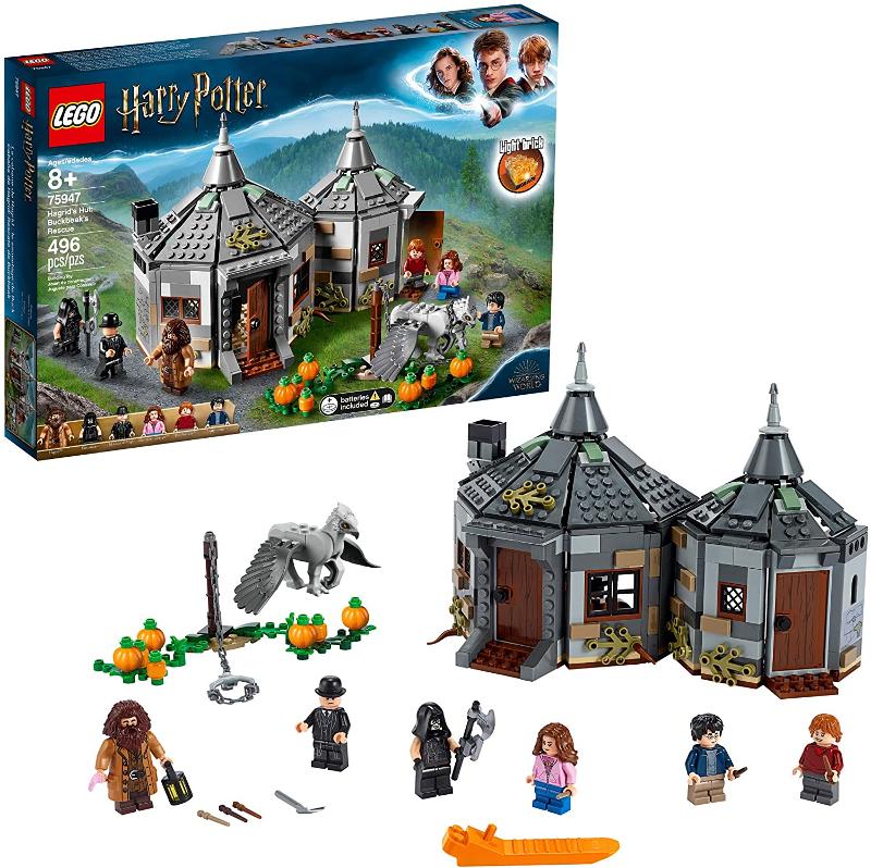 LEGO Hagrid's Hut: Buckbeak's Rescue 75947 is pictured.