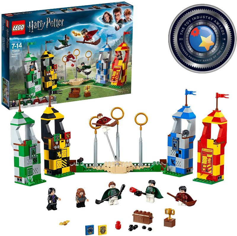 LEGO Harry Potter Quidditch Match Building Set 75956 is pictured.