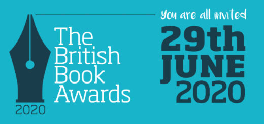 This is the banner of the British Book Awards.