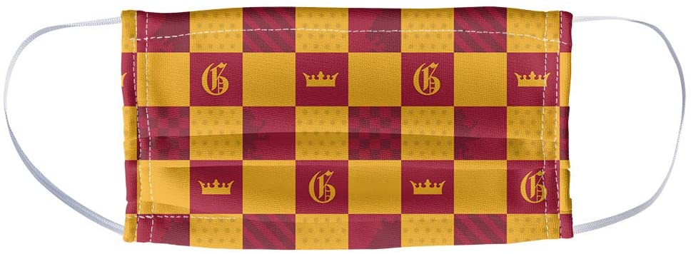 Popfunk Harry Potter face mask, Gryffindor checkerboard print