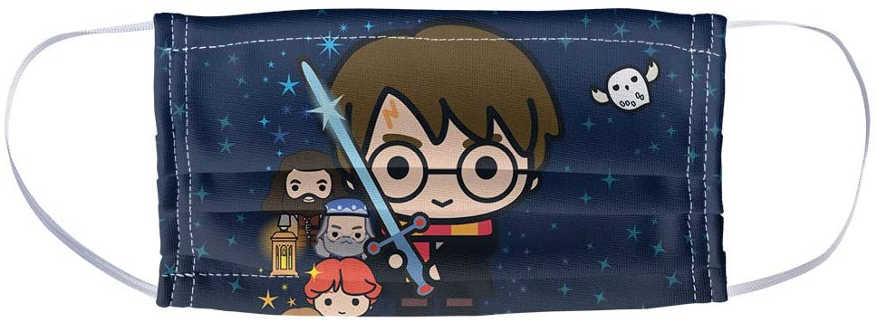 Popfunk Harry Potter face mask, chibi characters print